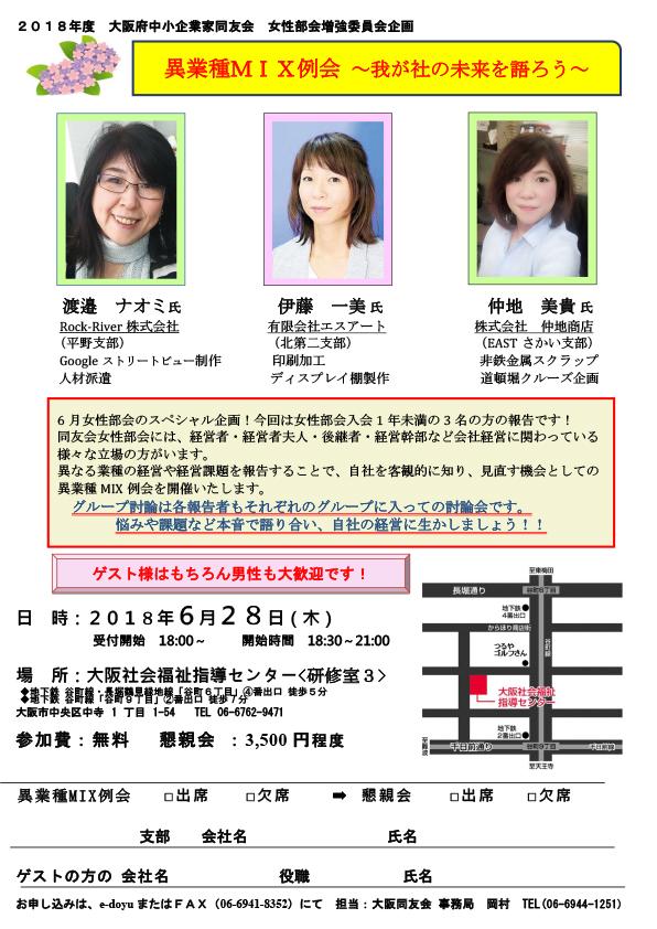 女性部会増強委員会企画 異業種MIX例会